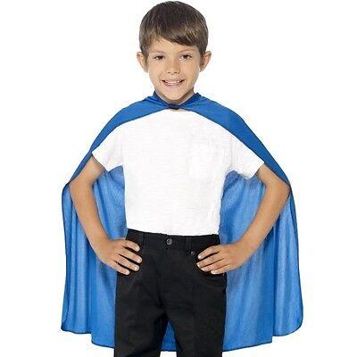 Entusiasta Bambini Bambini Costume Mantella Blu Bambini Supereroe Mantello Nuovo Da Smiffys