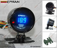 "EPMAN RACING 52mm 2"" DIGITAL ANALOG LED AIR/FUEL RATIO GAUGE METER"
