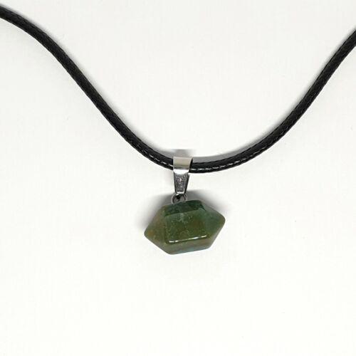 Piedra De Cuarzo barril geométricas colgante collar de Curación Cristal Reiki JoyeríA
