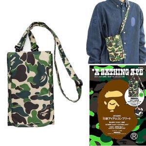 3e05389970ce A Bathing Ape Bape Shoulder Crossbody Bag Green Camo Wallet Purse