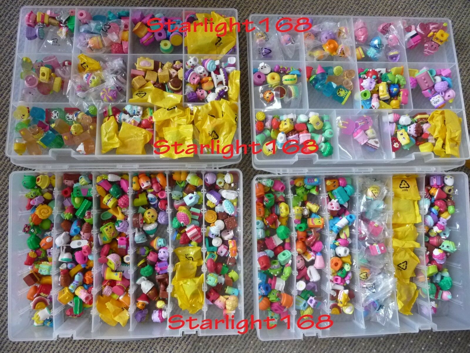 Mixed Lot of 100 Shopkins from Various Series  Authentic