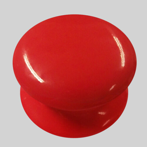 China Cupboard Drawer Knobs 50mm Pack Of 10 x Red Porcelain