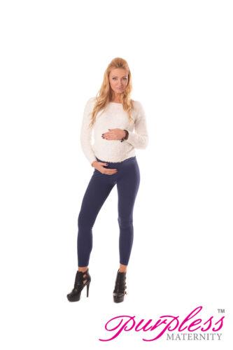 Nuevo elástico maternidad Leggings más Bump Integral Talla 8 10 12 14 16 18 1000