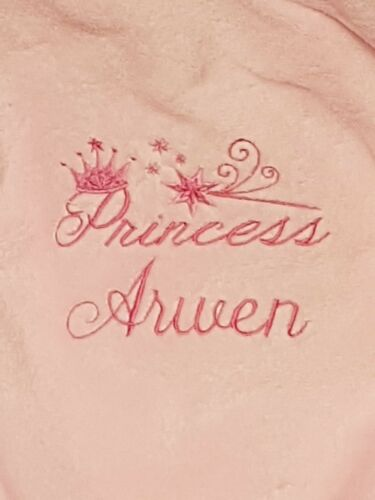 Personalised baby dressing gown Princess Prince  Newborn Gift embroidered name