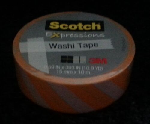 10.9 yd  Crafts School Elderly New Scotch Washi Tape 3M Choice .59 in x 393 in