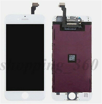 White Touch Digitizer LCD Screen Assembly for iPhone 6 Plus Replacement Repair