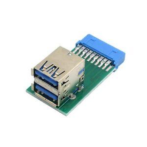Verticale Dual USB3.0 un tipo di scheda madre 20 Donna Pin BOX intestazione SLOT Adattatore