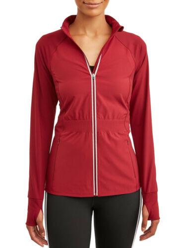 Women/'s Avia Active Performace Flex Tech Jacket Medium 8-10 Full Zip Thumbholes