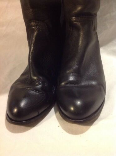 Dames kniehoge Maat zwarte 39 leren laarzen n8OPZNkX0w