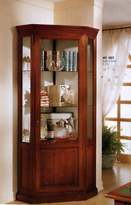 Vetrina angolo cristalliera argentiera vari colori ebay for Mobili sala angolari