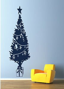 Image Is Loading CHRISTMAS Tree Wall Transfer Giant Art Decor Graphic