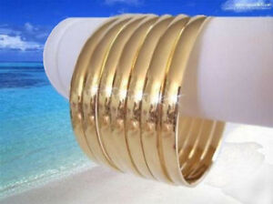 Image Is Loading 7 Heavy Gold Plate Bangle Semanario Bracelets Medium