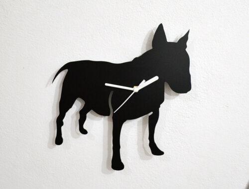 English Bull Terrier Dog Silhouette-Horloge murale