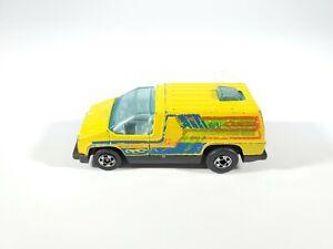 Hot-Wheels-1978-Blackwall-Yellow-SERVICE-VAN-Hong-Kong-Plastic-Base-1-64-Loose