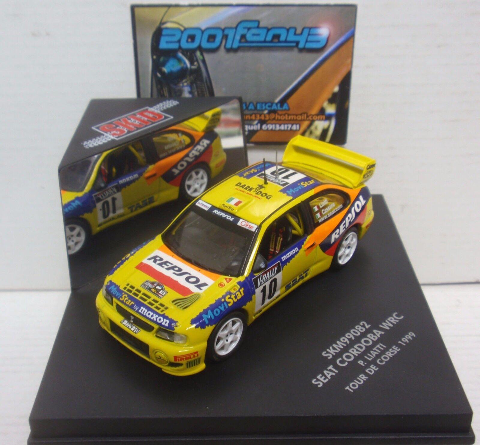 SEAT CORDOBA WRC  10 Liatti RALLY TOUR DE CORSE 1999 1 43 SKID