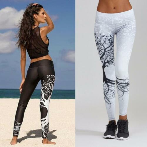 Women/'s Summer Printed Sports Yoga Workout Gym Fitness Exercise Athletic Pants