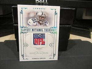National Treasures Game Worn Jersey NFL Shield Cowboys Terrell Owens ... 20be97549