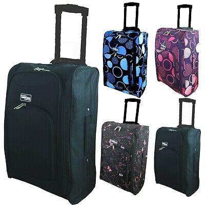 SERENECASA RYANAIR EASYJET Approved Lighweight Hardshell Cabin Luggage FITS 50X40X20cms Black