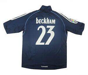 Real Madrid 2005-06 Camisa autêntica de distância Beckham #23 (excelente) Camisa De Futebol L
