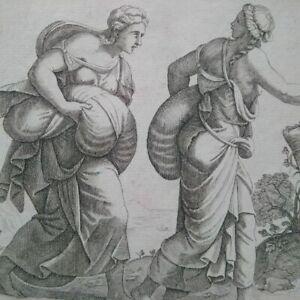 Rare gravure Gio Iacomo de Rossi XVIIème siècle superbe état signée mythologie