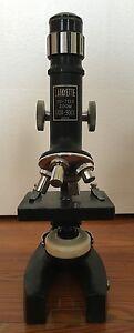 Microscope-Wooden-Box-Lafayette-900X-Zoom-Japan-99-7139