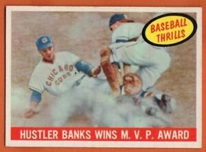 1959-Topps-469-Ernie-Banks-EX-EX-WRINKLE-Chicago-Cubs-HOF-FREE-SHIPPING
