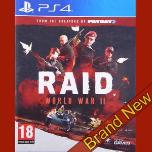 RAID-Weltkrieg-II-2-Playstation-4-ps4-18-NAGELNEU-amp-OVP