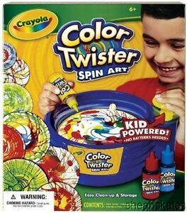 Crayola Color Twister SPIN ART~Colors Explode for Cool Random Paint Effects