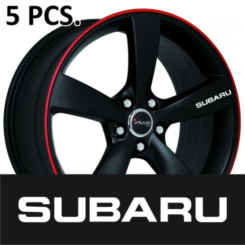 5pcs Subaru Door Handle Wheel sticker decal Impreza Legacy XV Forester