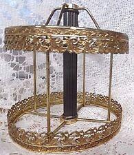 VTG Ornate metal filigree lamp CANOPY Light PLATFORM RISER Column HOLES BOBECHE
