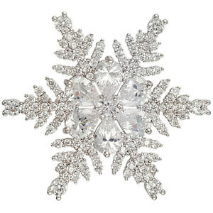 Image is loading CHRISTMAS-CRYSTAL-SNOWFLAKE-BROOCH-PIN-PENDANT-MADE-WITH- 252c523f36