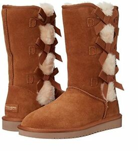 9aee828c497 Details about NIB Women's Koolaburra By UGG Victoria Tall Winter Boots  Choose Size Chestnut