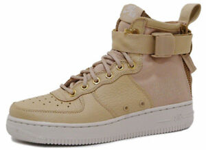 2a87095eda97 Nike SF AF1 Air Force 1 MID Women s Shoes Mushroom Light Bone AA3966 ...