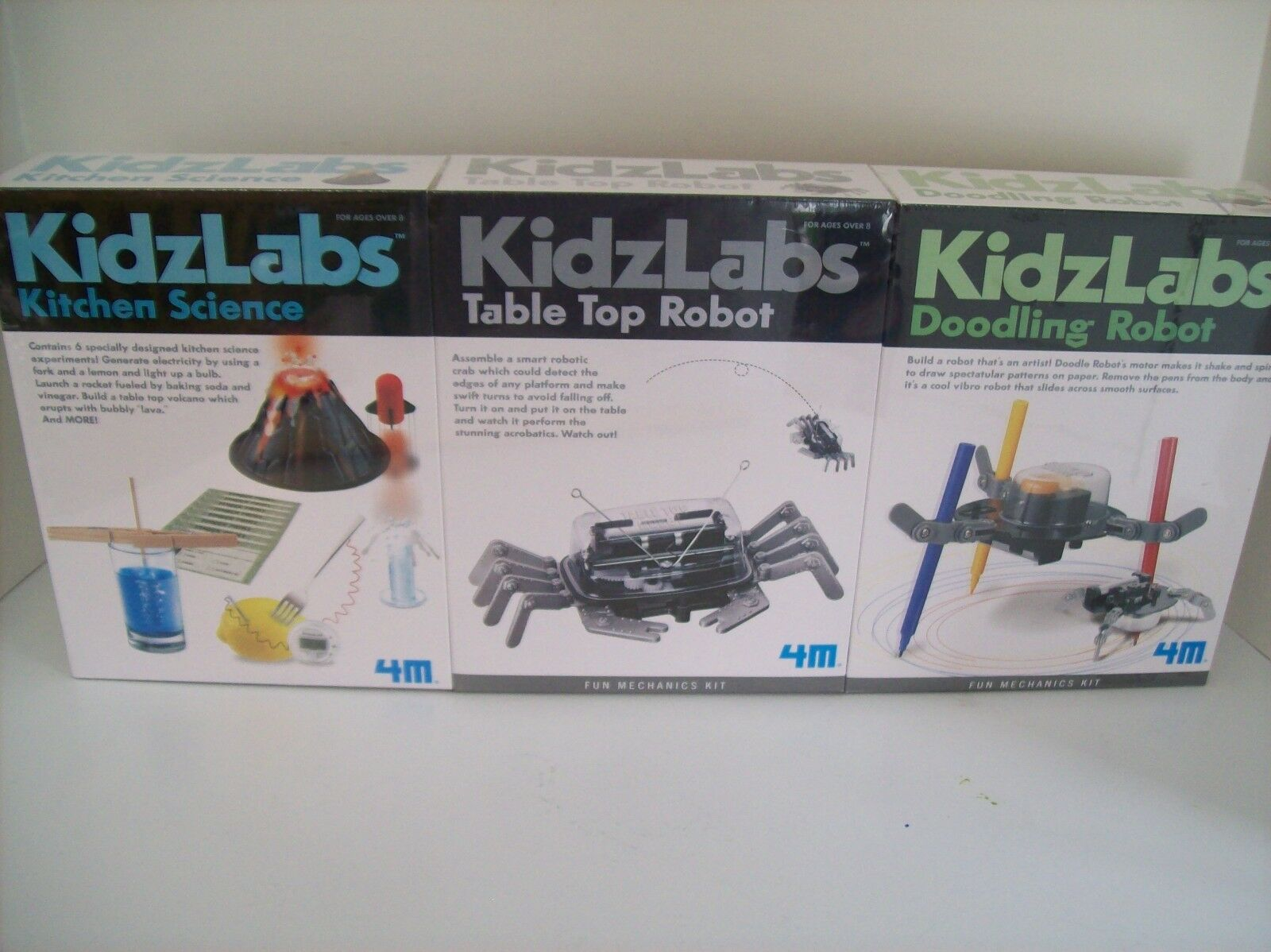 4M KidzLabs Science Kits -3 Kits (as shown) set - NEW Sealed