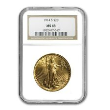 $20 Saint-Gaudens Gold Double Eagle MS-63 NGC (Random Year) - SKU#156939