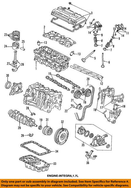 honda oem engine timing belt 14400p2t004 ebay rh ebay com 2004 Honda Civic Ex Engine 04 Honda Civic Engine