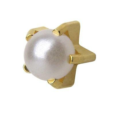 Studex Ear Piercing Gold Plated Pearl Stud Earrings 4mm Claw Setting