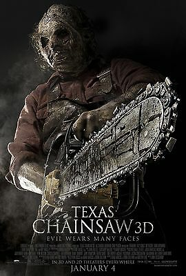 TEXAS CHAINSAW 3D Movie POSTER Horror Gore Leatherface