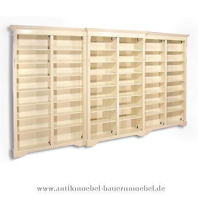 Bücherregal,Regalwand,Bücherwand,Regal,Weichholz,Landhausstil,weiß,Gründerzeit