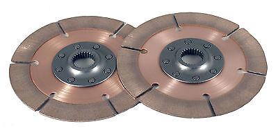 "Tilton 7.25""(184mm) Double Clutch Plate Kit  1"" x 23 spline Ford MG 8 Rivet"