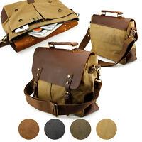 Vintage Style Mens School Messenger Bag