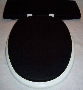 toilet seat covers for elongated lids. Image is loading Solid BLACK fleece Elongated Toilet Seat Lid and  Tank Cover