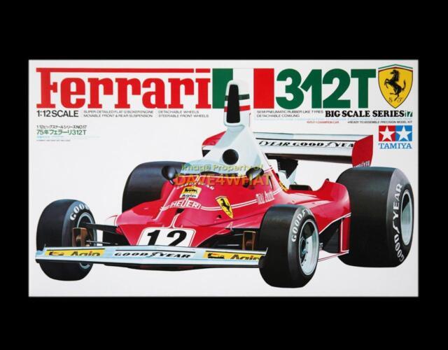 Vintage Tamiya 1//12 Ferrari 312T F1 Lauda Regazzoni Race Car Kit 12019 MIB