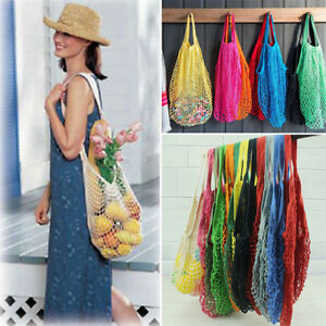 Large Mesh Net Turtle String Shopping Bag Durable Fruit Storage Handbag Tote