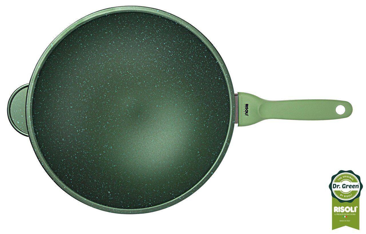 Risoli Wok Dr vert In Alluminio cm 30