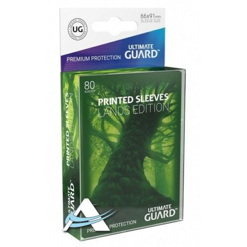 80 Bustine Protettive Standard Size • Ultimate Guard Lands Edition • FORESTA MTG