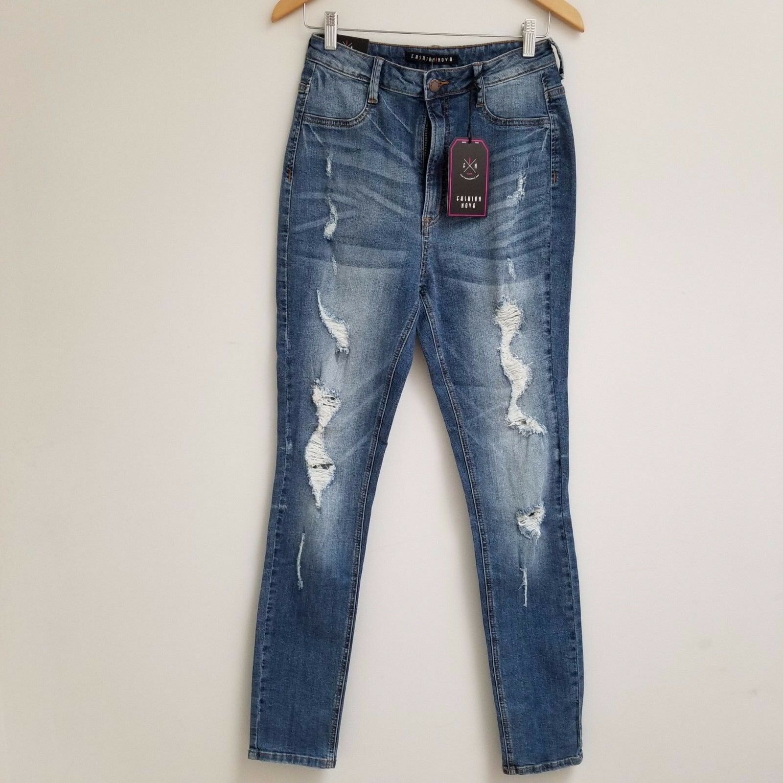 Fashion Nova Bet You Won't Forget It Jeans - Medium bluee Sz 11