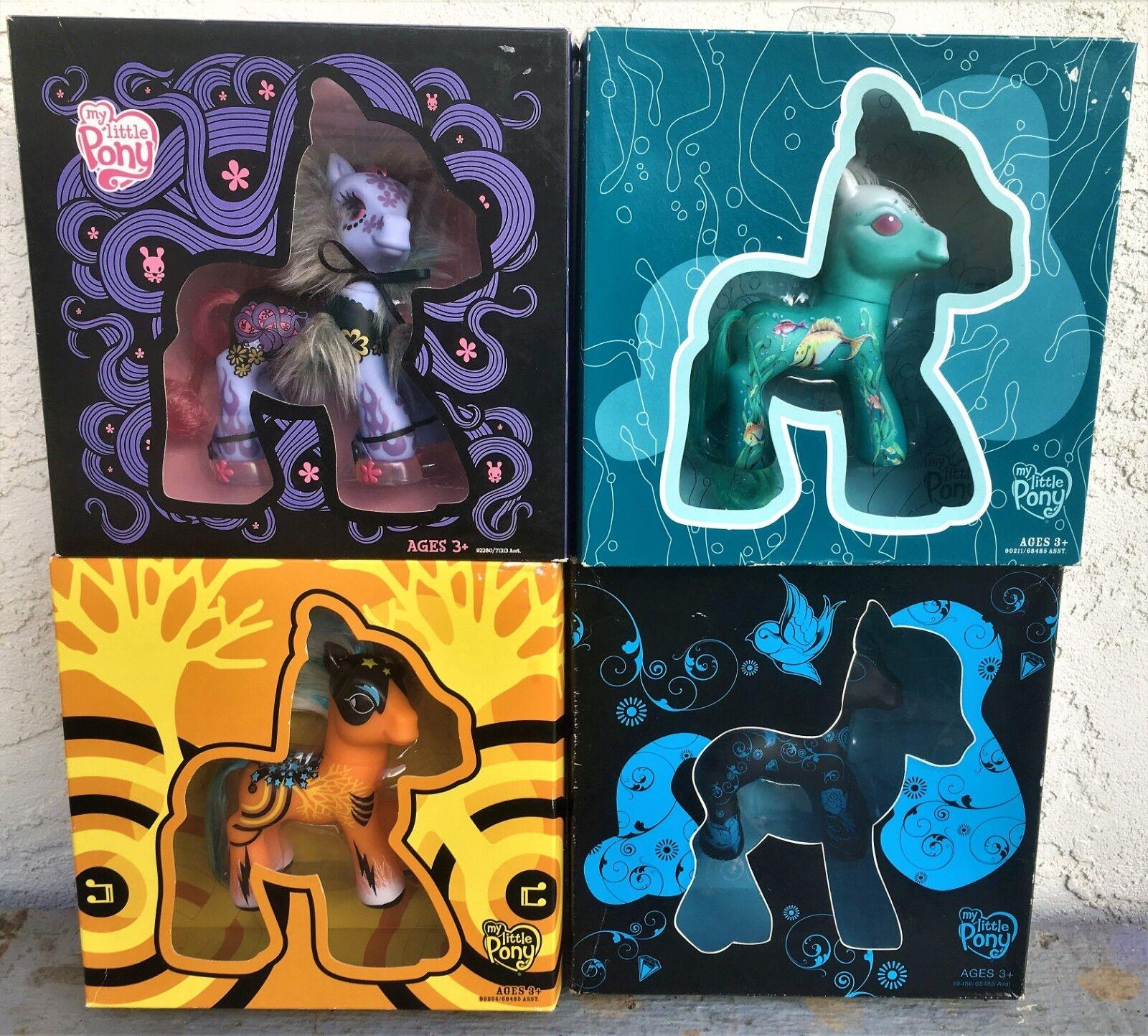 2008 Mattel Meine Meine Meine Little Pretty Ponys - Set 4 - Selten - Brandneu - Neu b1ab7d