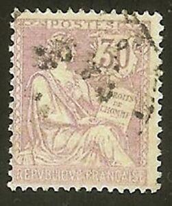 Francia-Stamp-Sello-Yvert-N-128-034-Tipo-Mouchon-30c-Violeta-034-Matasellado-MB