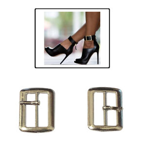 Pack of ten metal buckles for sandals leathercraft accessories shoes
